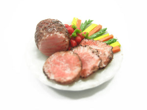 Dolls House Miniature Thanksgiving Food 3.5cm Roast Beef Steak Supply 10655