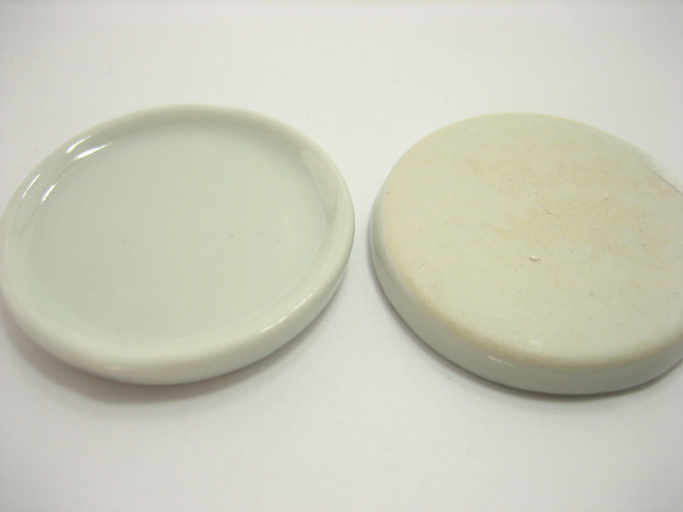 6x37mm White Round Plate Dish Dollhouse Miniature Ceramic Kitchenware Deco 10681