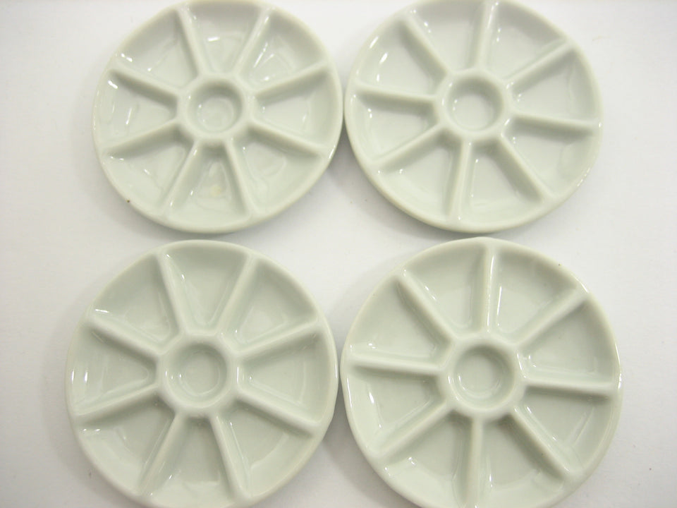 Dollhouse Miniature Ceramic Hole Plate Dish White Dinner Kitchen Supply
