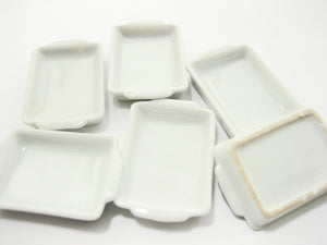 White Baking Pan/Tray 25x35 mm Dollhouse Miniatures Ceramic Supply