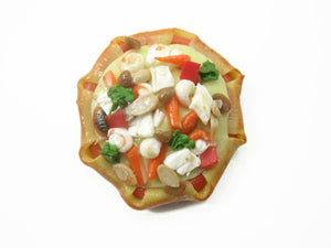 Dollhouse Miniatures Food 1 Sea Food Sausage Pizza Pan Supply Deco 10905