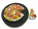 Dollhouse Miniatures Food 8 Slice Sausage Delight On Pizza Pan Supply 10908