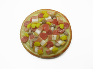 Dollhouse Miniatures Food 1 Sausage Delight Pizza Pan Supply Deco 10938