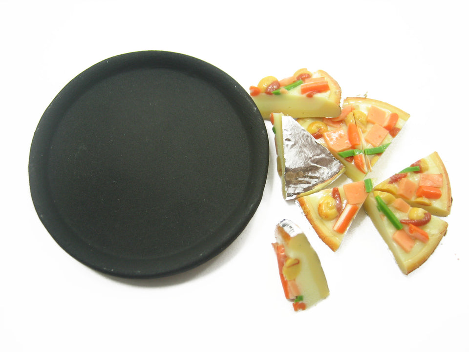 Dolls House Miniatures Food 8 Cuts Ham Bacon Delight On Pizza Hot Pan 10979