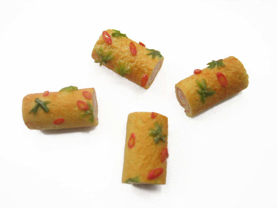 Lot Loose Tuna Roll Cake Dollhouse Miniatures Food Bakery Pastry Supply