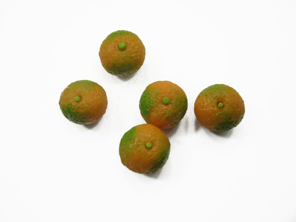 Loose Tangerine Orange Dollhouse Miniatures Food Fruit Supply Charms