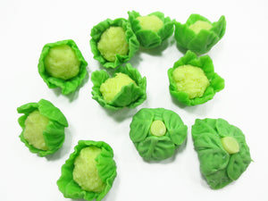 10 Loose Cauliflower Vegetables Barbie Dollhouse Miniatures Kitchen Charms 12222