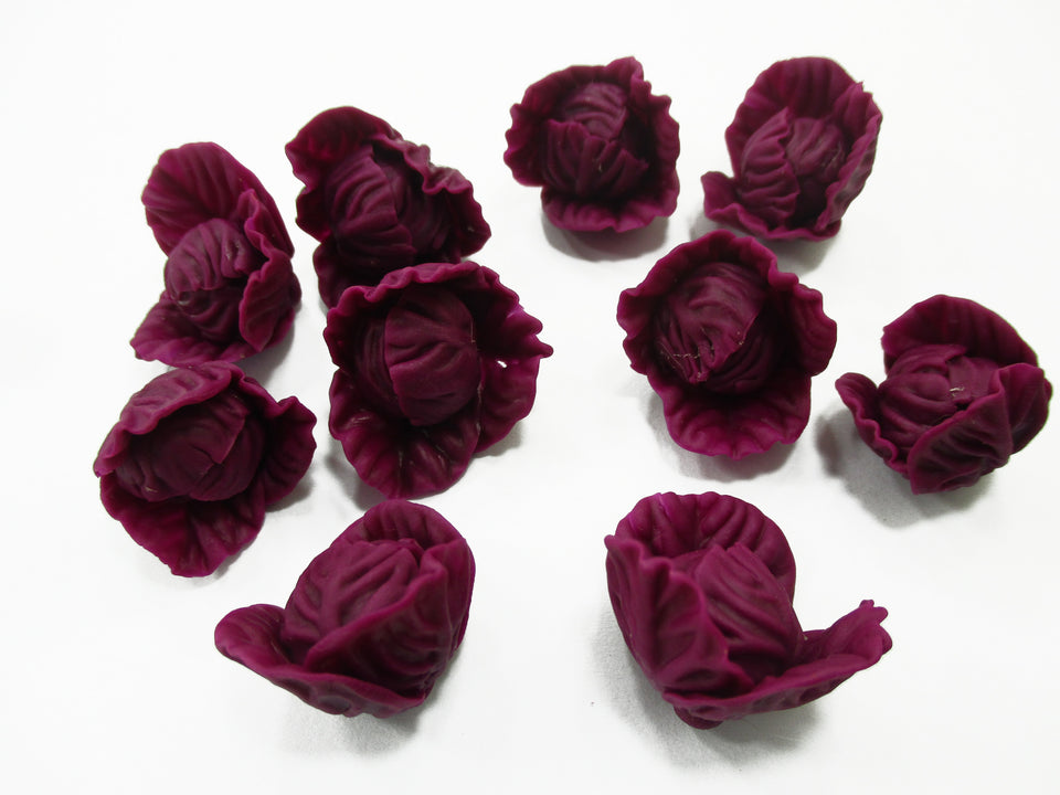 10 Loose Mixed Untrimmed Cabbage 1:6 Vegetable Dollhouse Miniature 12225