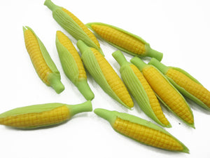10 Loose Cob Corn Salad Vegetables Barbie Dollhouse Miniature Food Charms 12228