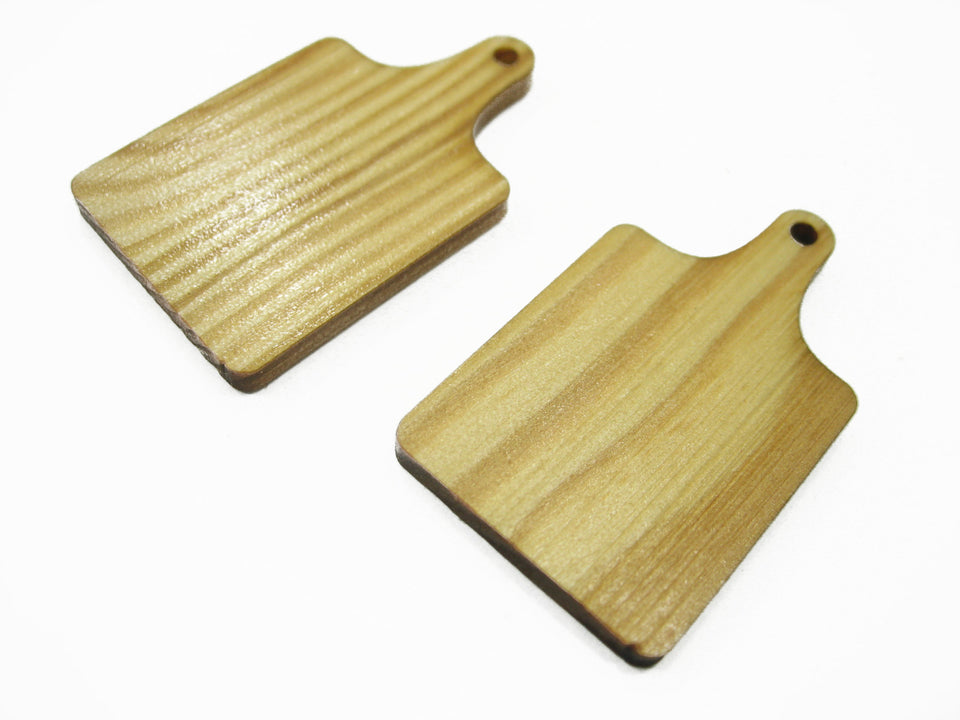 2 Cutting Wooden Board Kitchen Accessories Supply Dollhouse Miniature 12233