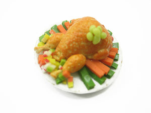 Dolls House Miniatures Thanksgiving Food 3.5cm Turkey Roasted Chicken 12234