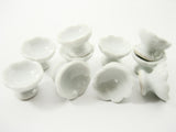 10x15 mm Mini White Ceramic Ice Cream Cups Dollhouse Miniature Supply 12441