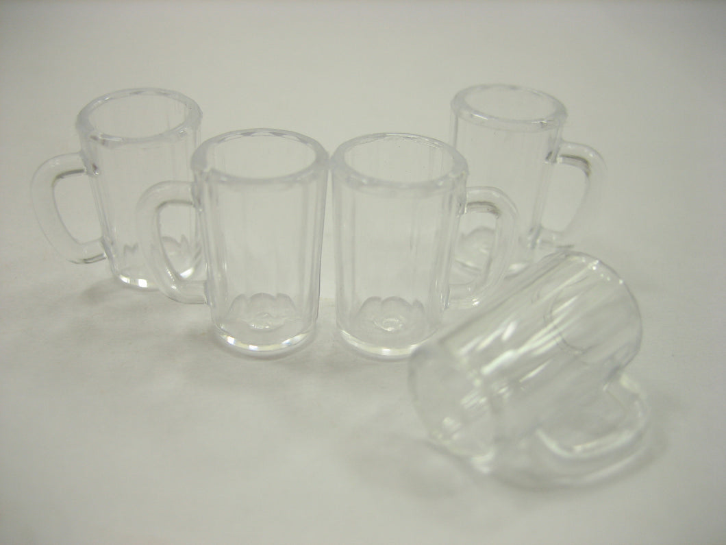 Dollhouse Miniatures 5 Beer Cup Acrylic Beverage Supply Accessories Mug 12453