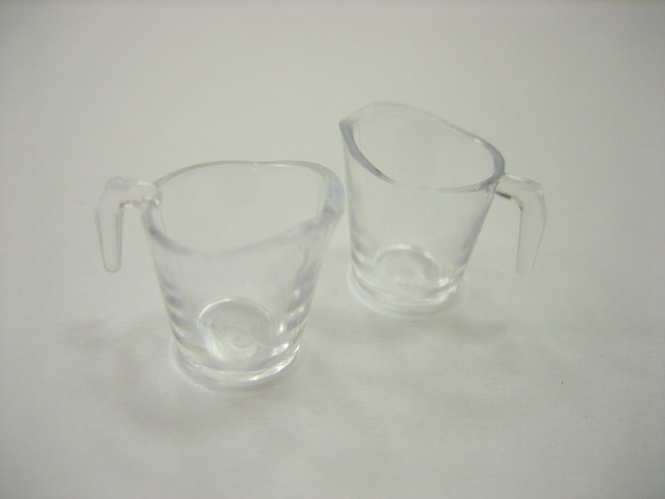 Dolls House Miniatures 2 Measuring Cup Plastic Supply Accessories Supply 12454