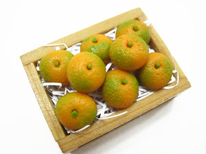 Dollhouse Miniatures Wooden Crate Of Orange Fruit Food Supply Charms 12461
