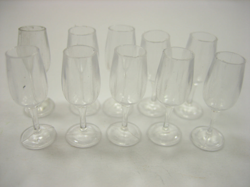Acrylic Wine Glass Dollhouse Miniature Accessories Beverage Supply
