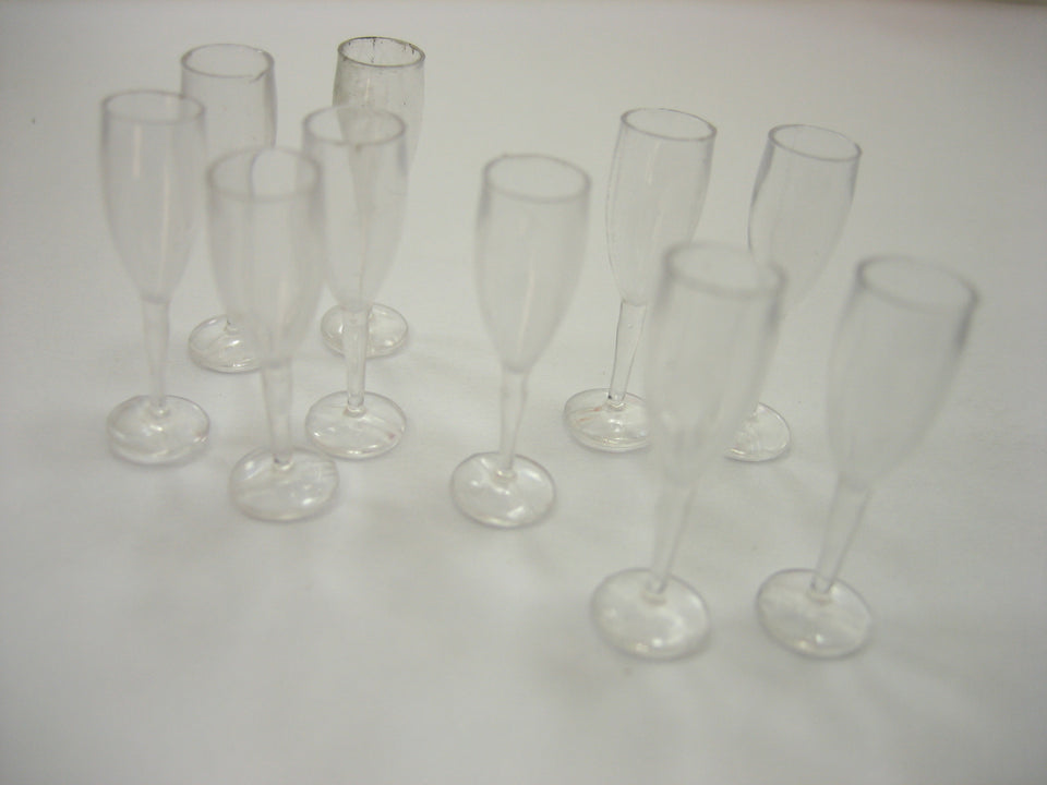 Acrylic Wine Champagne Glass Dollhouse Miniatures Drink Bar Theme Supply