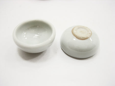 Set Of 4 White Pet Food Bowl Plate 15mm Dollhouse Miniatures Animal Supply 12802