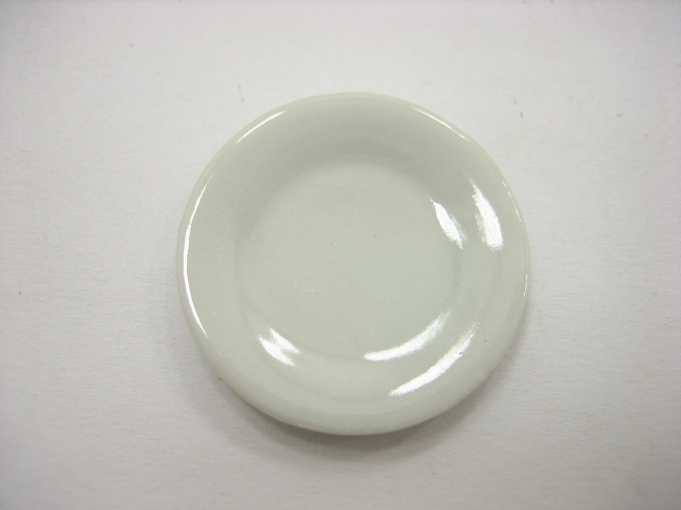 30mm White Round Plates Dishes Ceramic Kitchenware Dollhouse Miniature