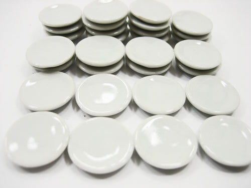 Dollhouse Miniature Mini White Round Plates Dish 20 mm Ceramic Kitchenware