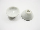 15 mm White Round Bowls Dollhouse Miniatures Ceramic Supply Food