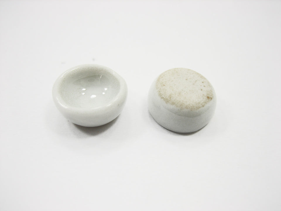 10 mm Mini White Round Bowl Dollhouse Miniatures Ceramic Supply
