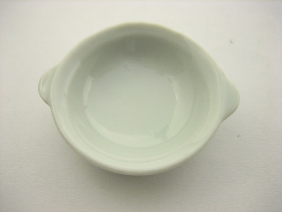 Dollhouse Miniature Ceramic White Soup Shabu Bowl 35mm Kitchenware Supply 12669