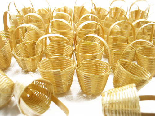 Wholesale Wicker Holder Basket Fruit Vegetable Dollhouse Miniature