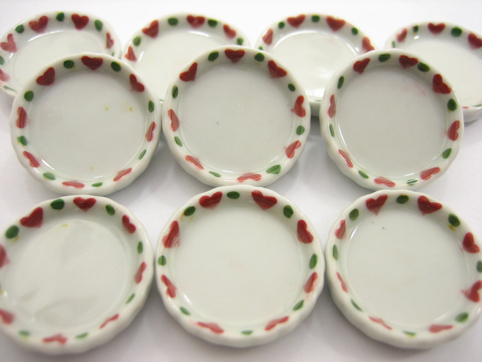 10x25mm Christmas Pan/Tray Plate Dollhouse Miniature Ceramic Food Supply 12990