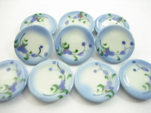 10x20mm Orchid Flower Paint Plate Dish Dollhouse Miniature Ceramic 13205