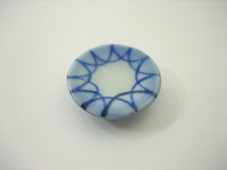 10x15mm Blue Rim Paint Plate Dish Handmade Dollhouse Miniatures Ceramic 13215