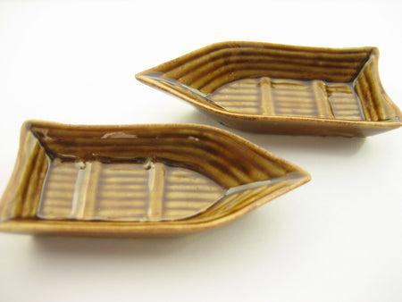 5 Large Boat Ceramic Bowls Dollhouse Miniatures Japanese Food Supply 13266