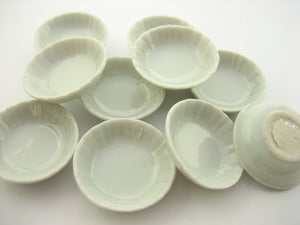 10x30 mm White Round Bowls Dollhouse Miniatures Ceramic Supply Deco 13268