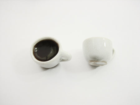 Dollhouse Food Miniature Drink Beverage Black Coffee Ceramic Cups Mug #M