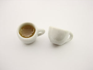 Dollhouse Miniature Food Drink Beverage Ceramic Coffee Cups Mugs #S