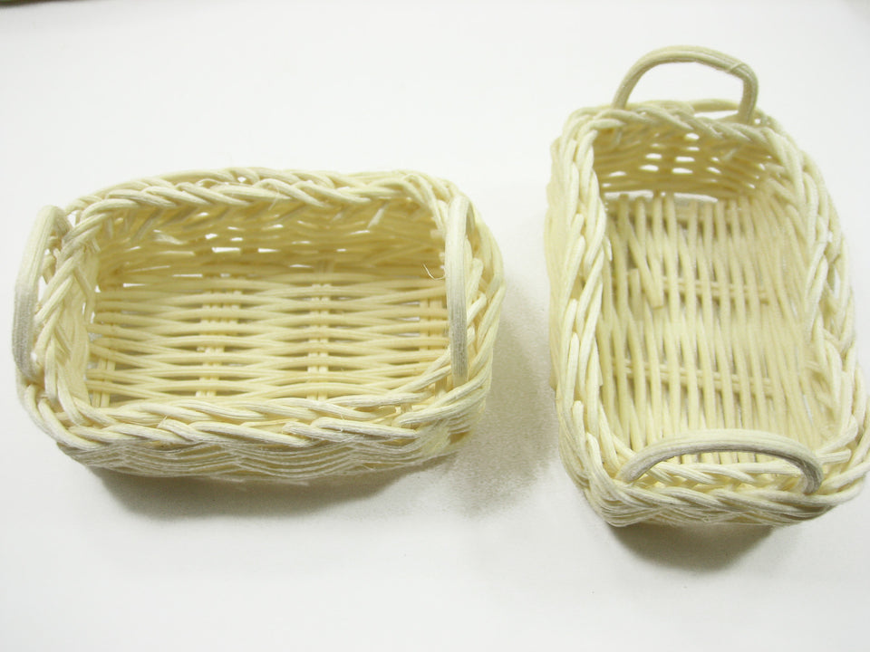 Dollhouse Miniature Wholesale Wicker Baskets Tray Accessories Size L