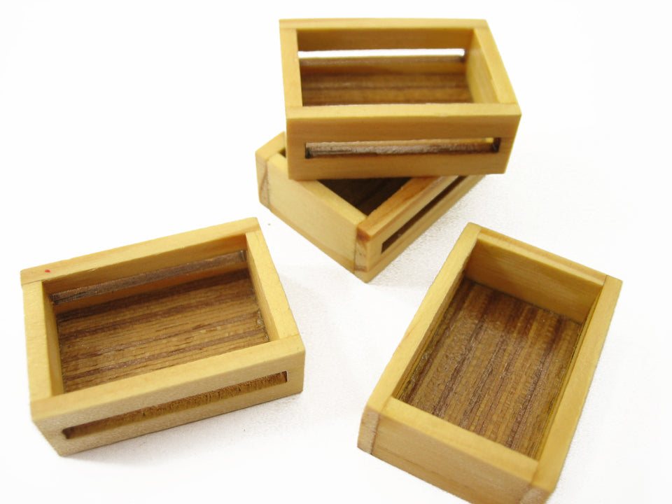 Dollhouse Miniature Accessories Wooden Bakery Serving Tray Display