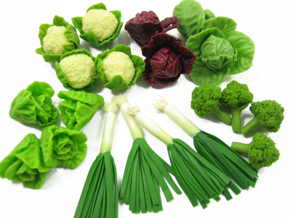 20 Mixed Loose Vegetables Barbie Dollhouse Miniature Kitchen Charms Supply 13522