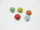 Dollhouse Miniature Food Lot Mixed Color Loose Macaron Bakery Supply