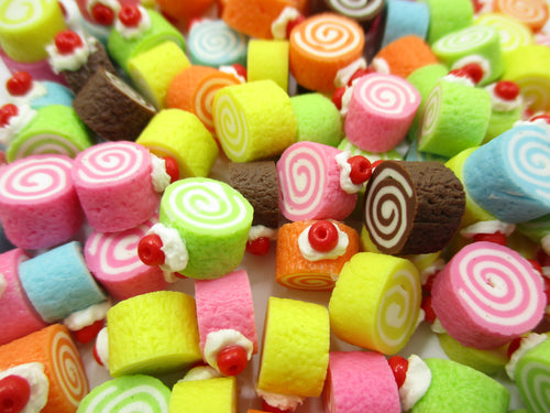 Dollhouse Miniatures Food Lot Loose Color Roll Cake WHOLESALE Supply