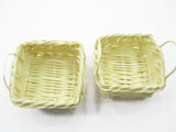 Dollhouse Miniature Handmade Wicker Baskets Tray WHOLESALE Supply