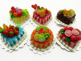 Dollhouse Miniature Food Lot 2cm 6 Mixed Color Rose Flower Cake Supply 13723