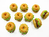 Dollhouse Miniatures Food Lot 10 Cheese Bagel White Seeds Bakery Supply 13731