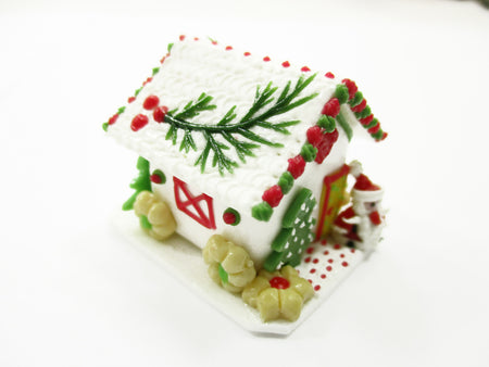 Dollhouse Miniature Clay Gingerbread House Candy Sweet Food Christmas A 13772