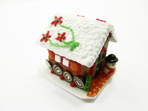 Dollhouse Miniature Christmas Gingerbread House Candy Sweet Holiday A 13773