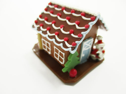 Dollhouse Miniature Christmas Gingerbread House Candy Ornament Holiday A 13777