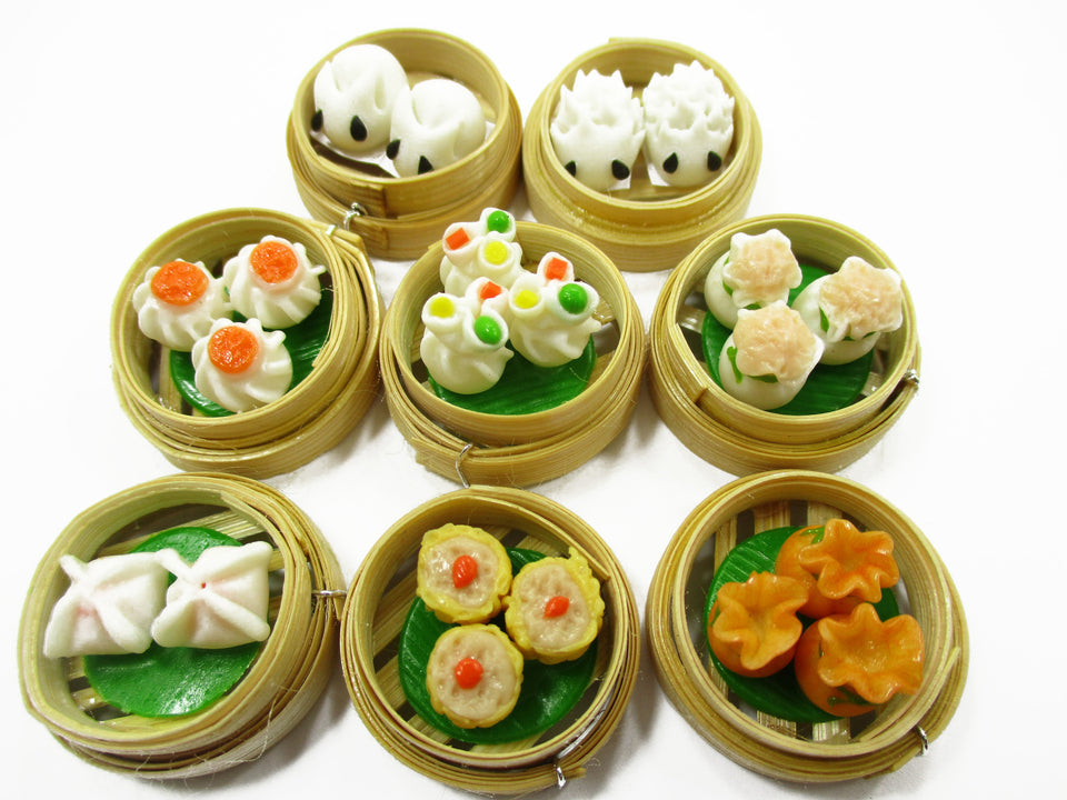 Set of 16 Dim Sum Chinese Cuisine Handmade Dollhouse Miniatures Food 13798