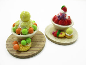 Dollhouse Miniature Food 2 Flavors Bingsu Korean Dessert Fruit Snowflake 13808