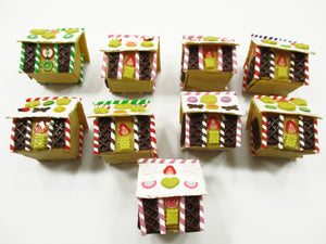 Dollhouse Miniature Food Cake 9 XMAS Gingerbread House WHOLESALE Supply 13821