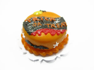 Dollhouse Miniatures Halloween Cake 2 cm Devil Seasonal Handmade Holiday 13974